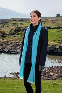 Jade & Century Green Lambswool Scarf. Product thumbnail image