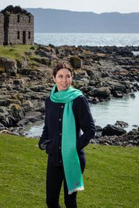 Century Green & Jade Lambswool Scarf. Product thumbnail image