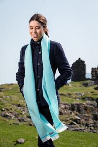 Mid Turquoise & Jade Scarf. Product thumbnail image